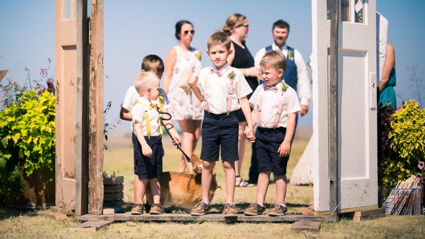 Handsome Ring Bearers and Flower Girl